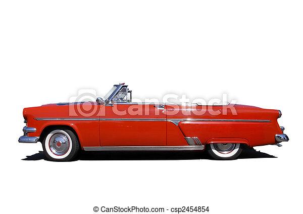 coche, rojo, clásico - csp2454854