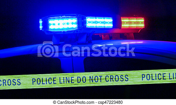 Sirena de coche de policía con cinta adhesiva - csp47223480