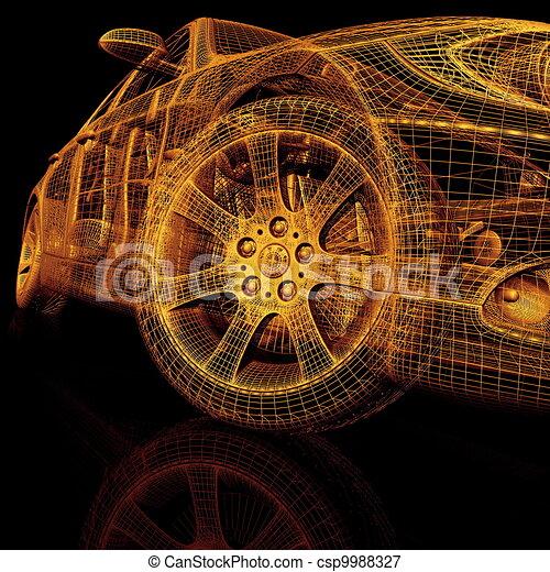 3d coches modelo - csp9988327