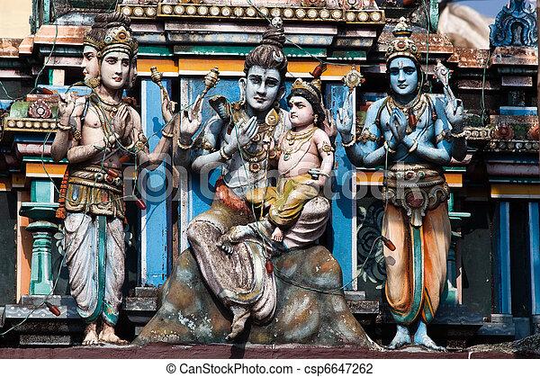 cochin, indie, vishnu, kerala, stan, świątynia, gopuram - csp6647262