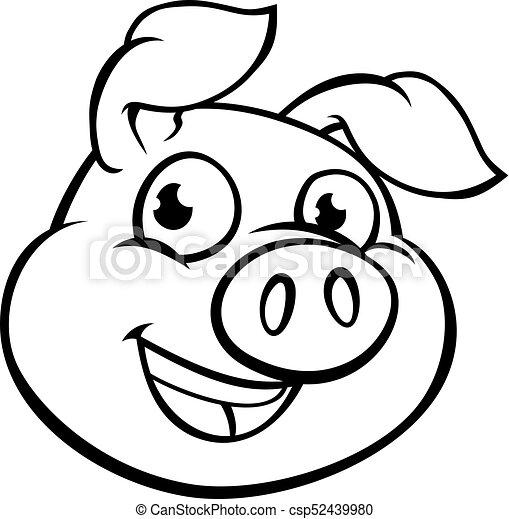 Cochon Caractère Dessin Animé Mascotte