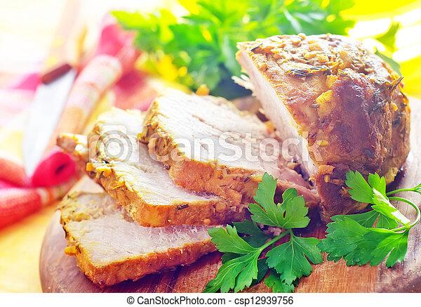 cocido al horno, carne - csp12939756