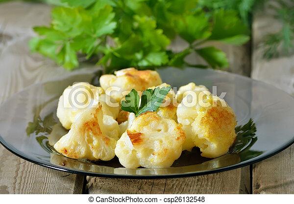 cocido al horno, coliflor - csp26132548