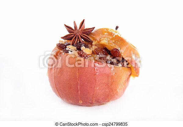 cocido al horno, manzana - csp24799835