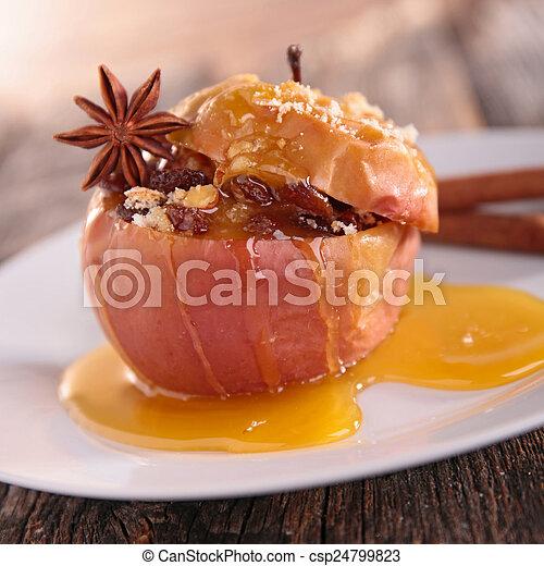 cocido al horno, manzana - csp24799823