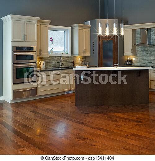 Diseño de cocina interior - csp15411404