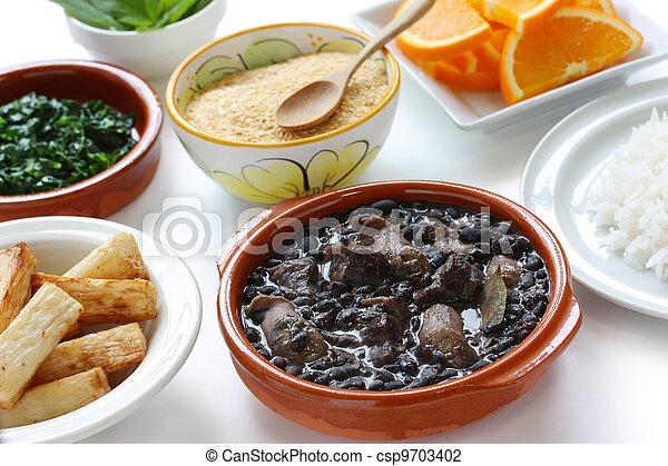 Feijoada, cocina brasileña - csp9703402