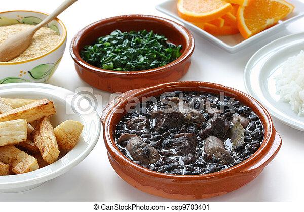 Feijoada, cocina brasileña - csp9703401