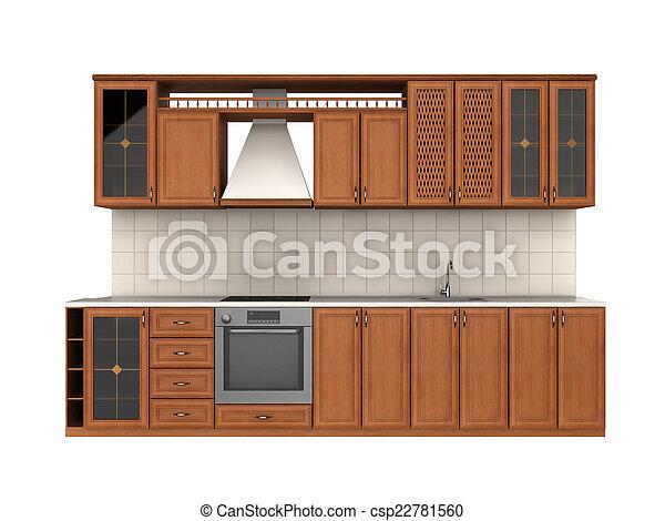 cocina, integral, muebles