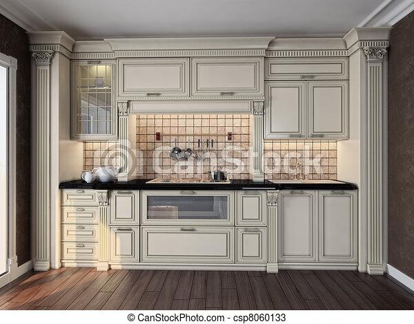 Interior de cocina - csp8060133