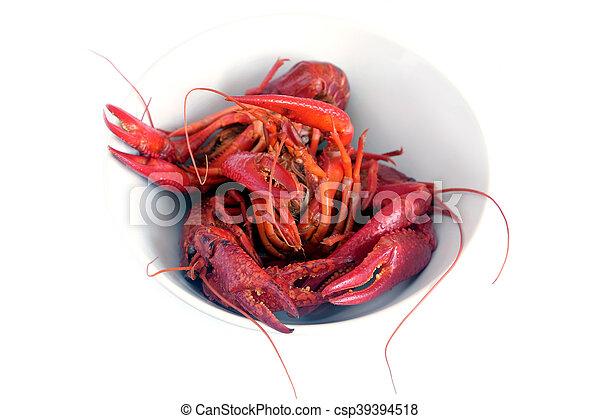 Los cangrejos cocinados aislados en la C blanca - csp39394518