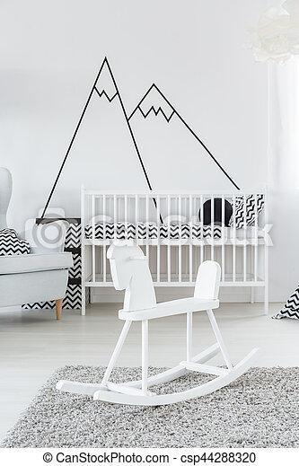 Cockhorse in baby room - csp44288320