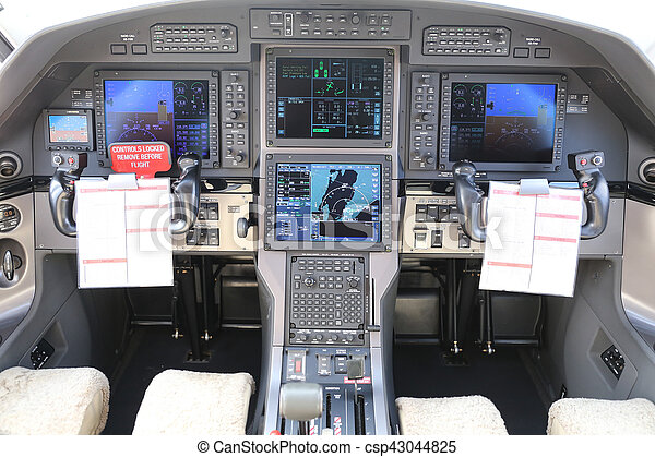 Cockpit of an Airplane - csp43044825