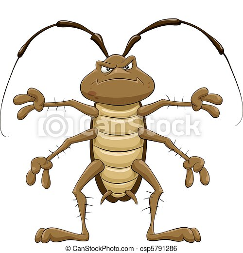 cartoon cockroach on a white background vector illustration clip rh canstockphoto com hissing cockroach clipart hissing cockroach clipart