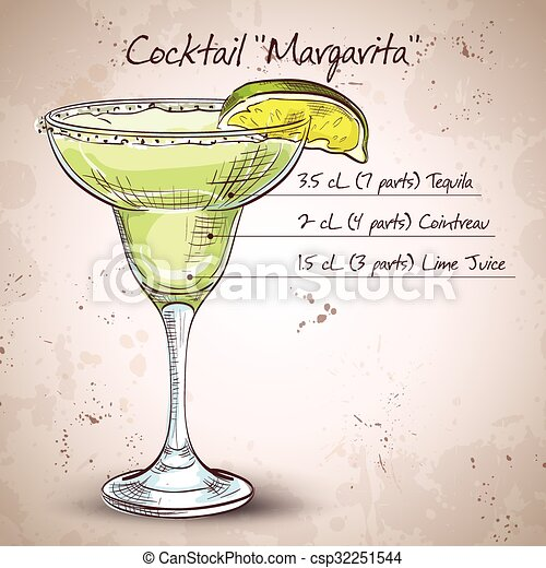 Cocktail alcohol Margarita - csp32251544