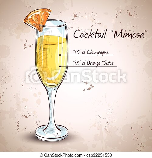 Cocktail alcohol Mimosa - csp32251550