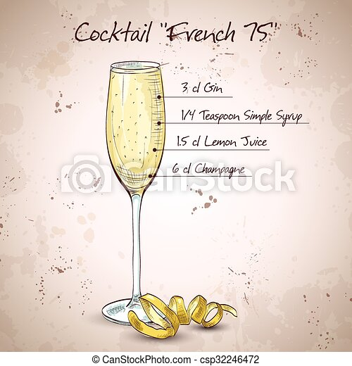 Cocktail French 75 - csp32246472