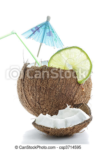 Cocktail made of coconut - csp3714595