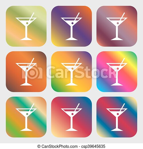 cocktail martini, Alcohol drink icon - csp39645635