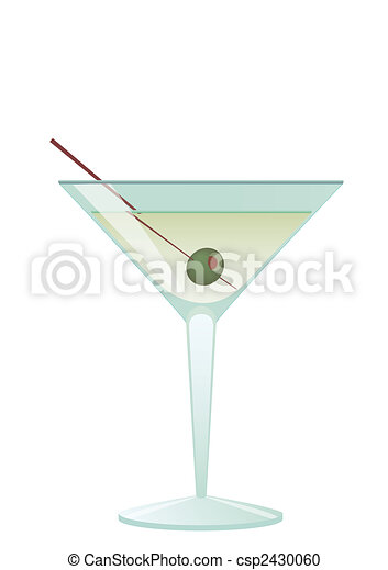 Cocktail Martini With Olive - csp2430060