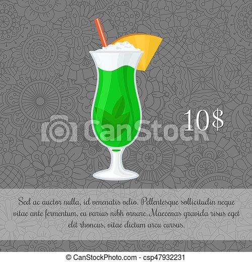 Cocktail Karte.Cocktail Minze Karte Schablone Alkoholiker