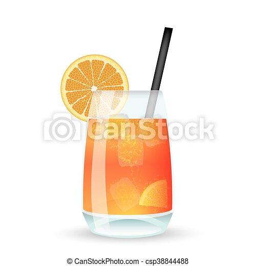 Cocktail Tequila Sunrise - csp38844488