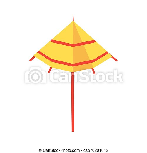 Cocktail Umbrella Icon Cartoon Isolated Vector Illustration Graphic Design