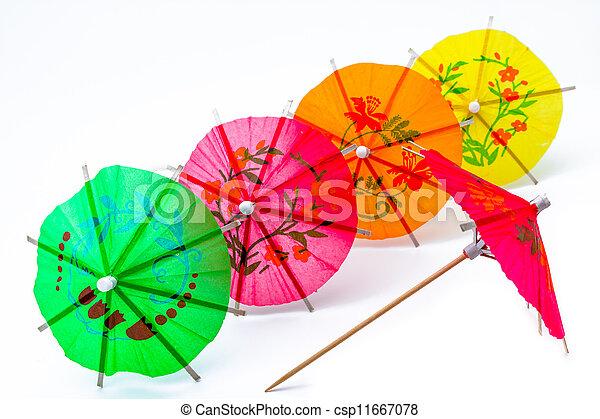 Cocktail Umbrella - csp11667078