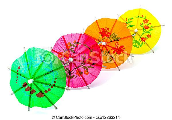 Cocktail Umbrella - csp12263214