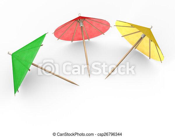 Cocktail Umbrellas Stock Illustration