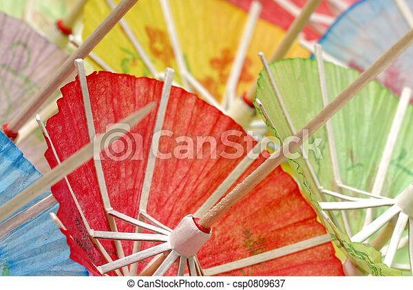 Cocktail Umbrellas - csp0809637