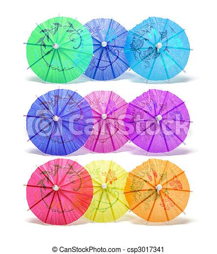 Cocktail Umbrellas - csp3017341
