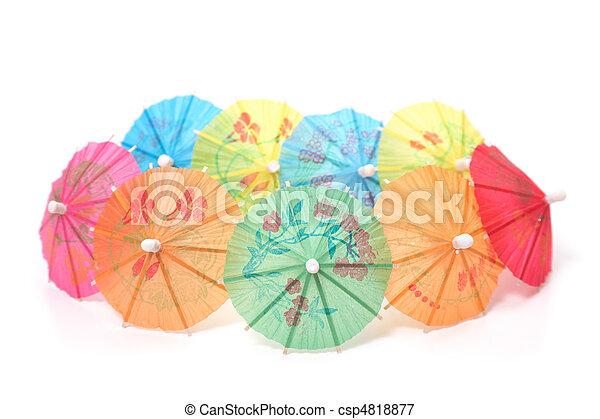 cocktail umbrellas - csp4818877
