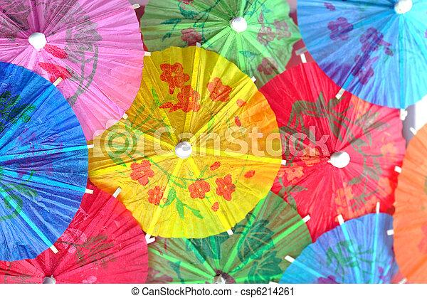 cocktail umbrellas - csp6214261