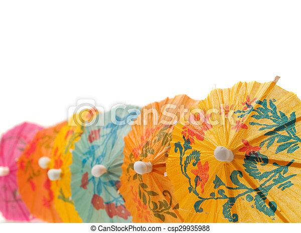 Cocktail Umbrellas - csp29935988