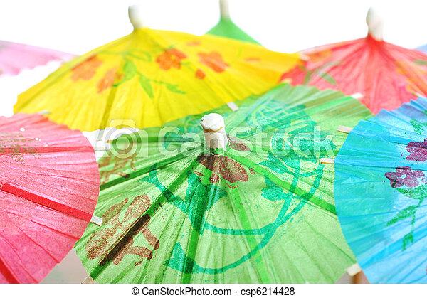 cocktail umbrellas - csp6214428