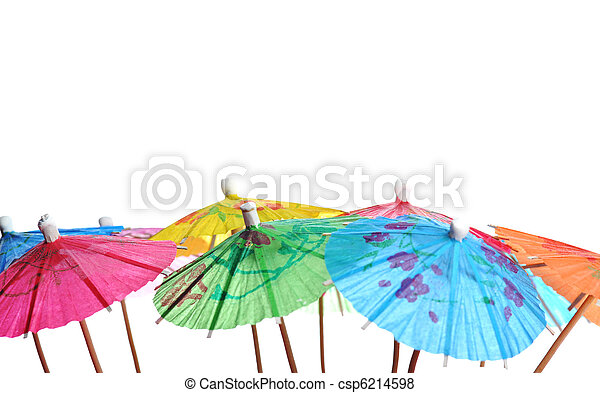 cocktail umbrellas - csp6214598