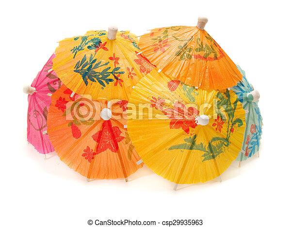 Cocktail Umbrellas - csp29935963