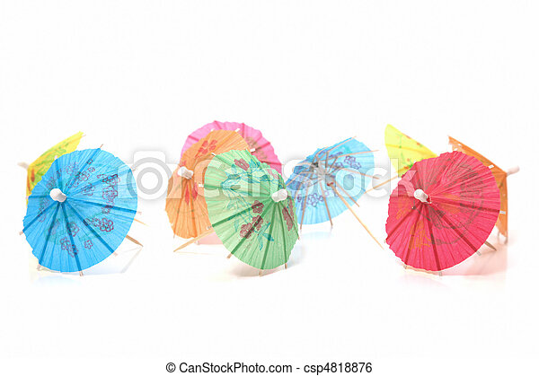 cocktail umbrellas - csp4818876