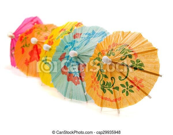 Cocktail Umbrellas - csp29935948