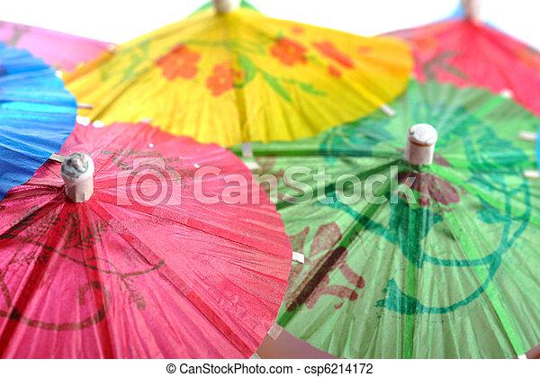 cocktail umbrellas - csp6214172