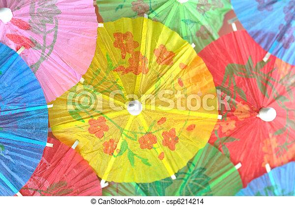 cocktail umbrellas - csp6214214
