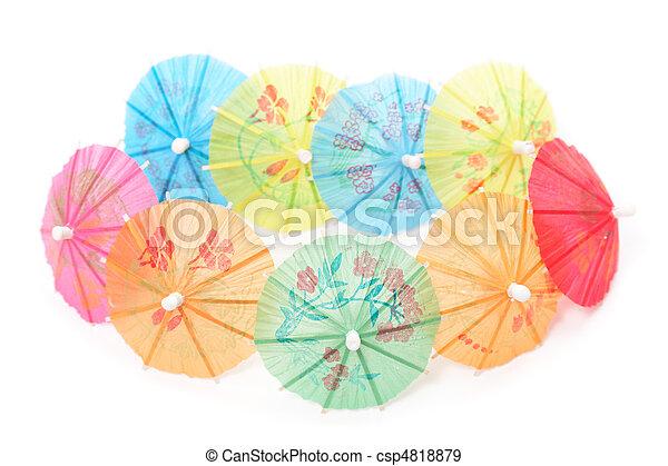 cocktail umbrellas - csp4818879