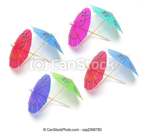 Cocktail Umbrellas - csp2368780
