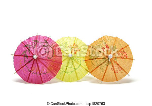Cocktail umbrellas - csp1820763