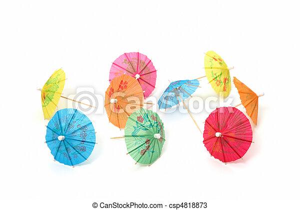 cocktail umbrellas - csp4818873