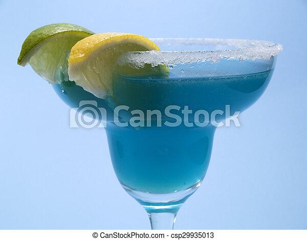Cocktails Collection - Blue Margarita - csp29935013