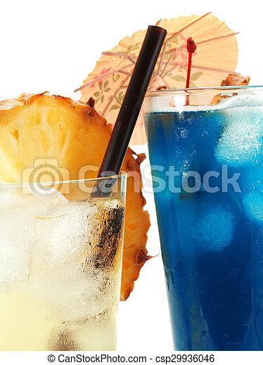 Cocktails Collection - Vanilla Sky and Blue Hawaiian - csp29936046