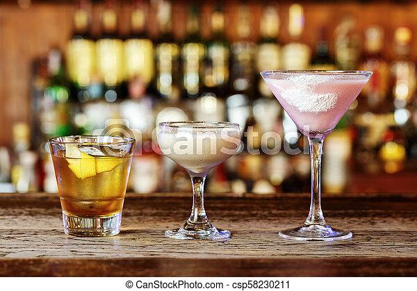 cocktails in a nightclub - csp58230211