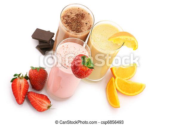 cocktails, proteïne, gevarieerd - csp6856493